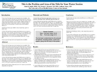 science fair project board template